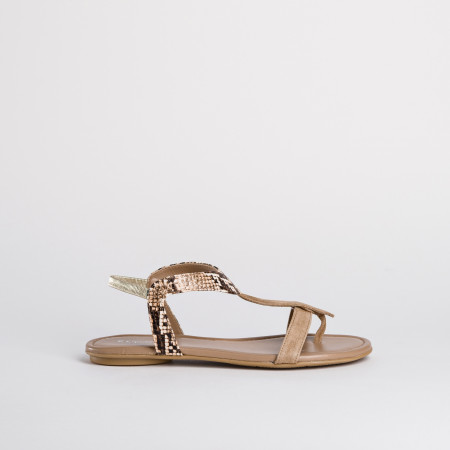 sandale plate bernie peau nap python | reqins