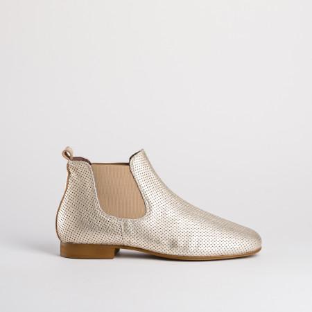 boots dorées femme - reqins