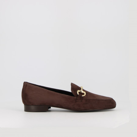 MOCASSINS AUBANE PEAU - MARRON