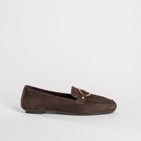 MOCASSINS HANSEL PEAU - MARRON