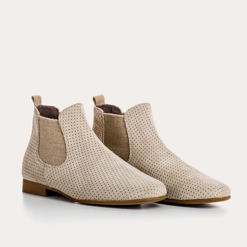 boots lizette peau perfo | reqins