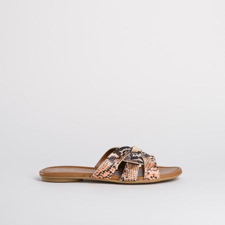 sandale imprimé python - reqins