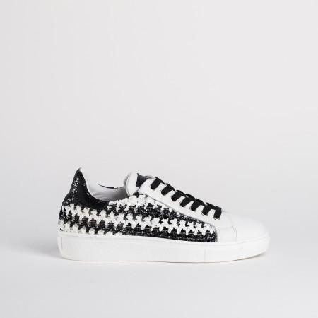 basket noir et blanc femme - reqins