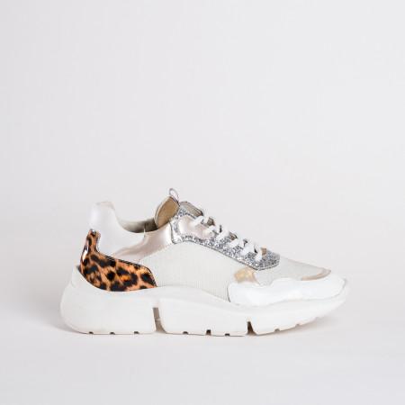 basket femme motif leopard - reqins