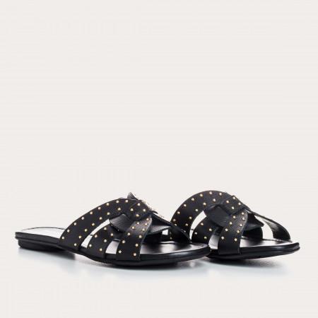sandales plates cloutées - reqins