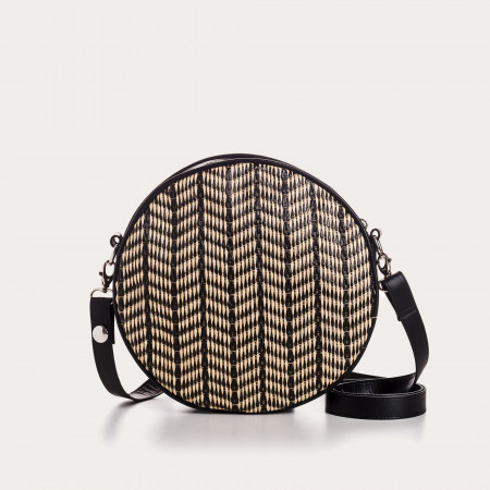 SAC CALIOPE CUIR/PALM