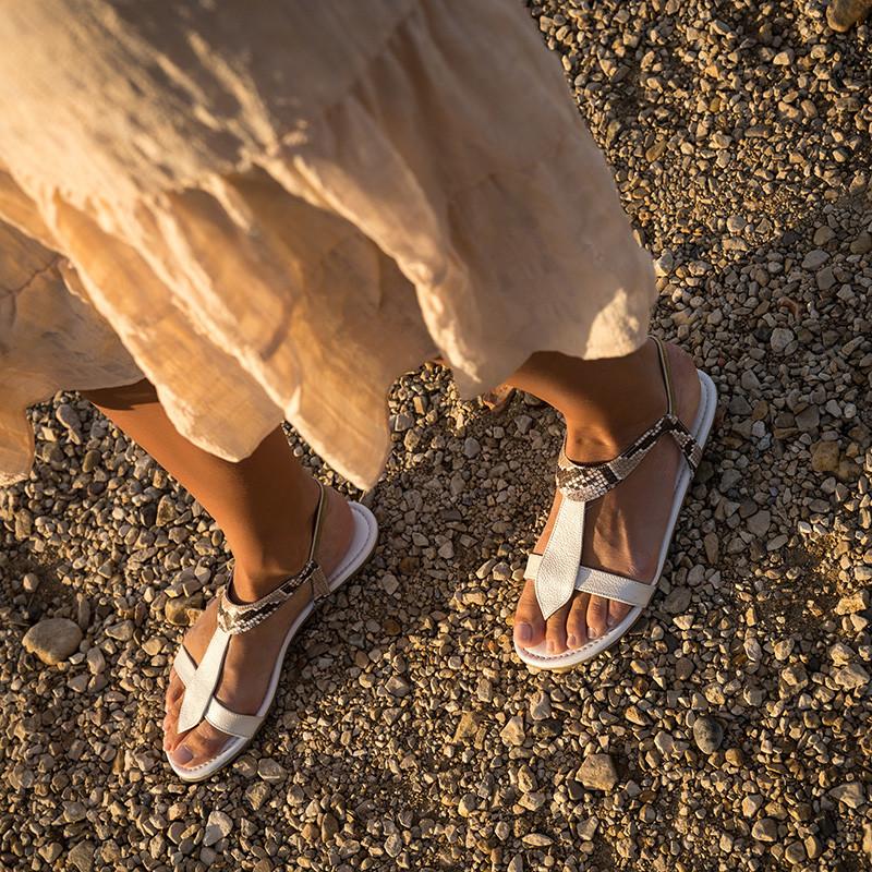 sandales plates pour femme chic - reqins