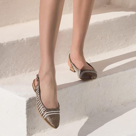 sandales plates - reqins