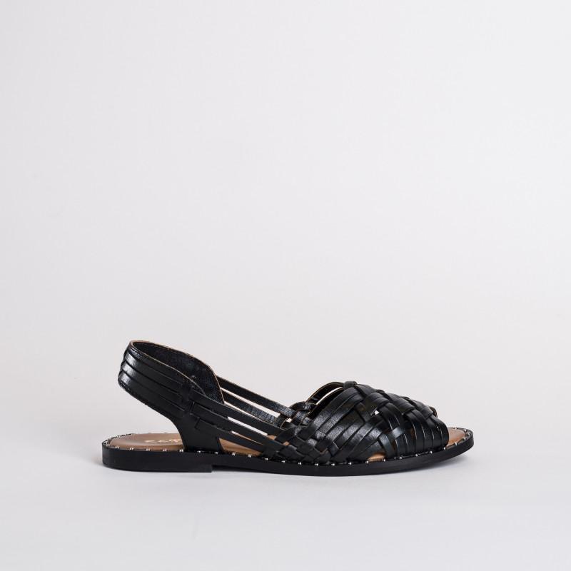 """sandales en cuir tressé """"daniela"""" de la marque reqins"""